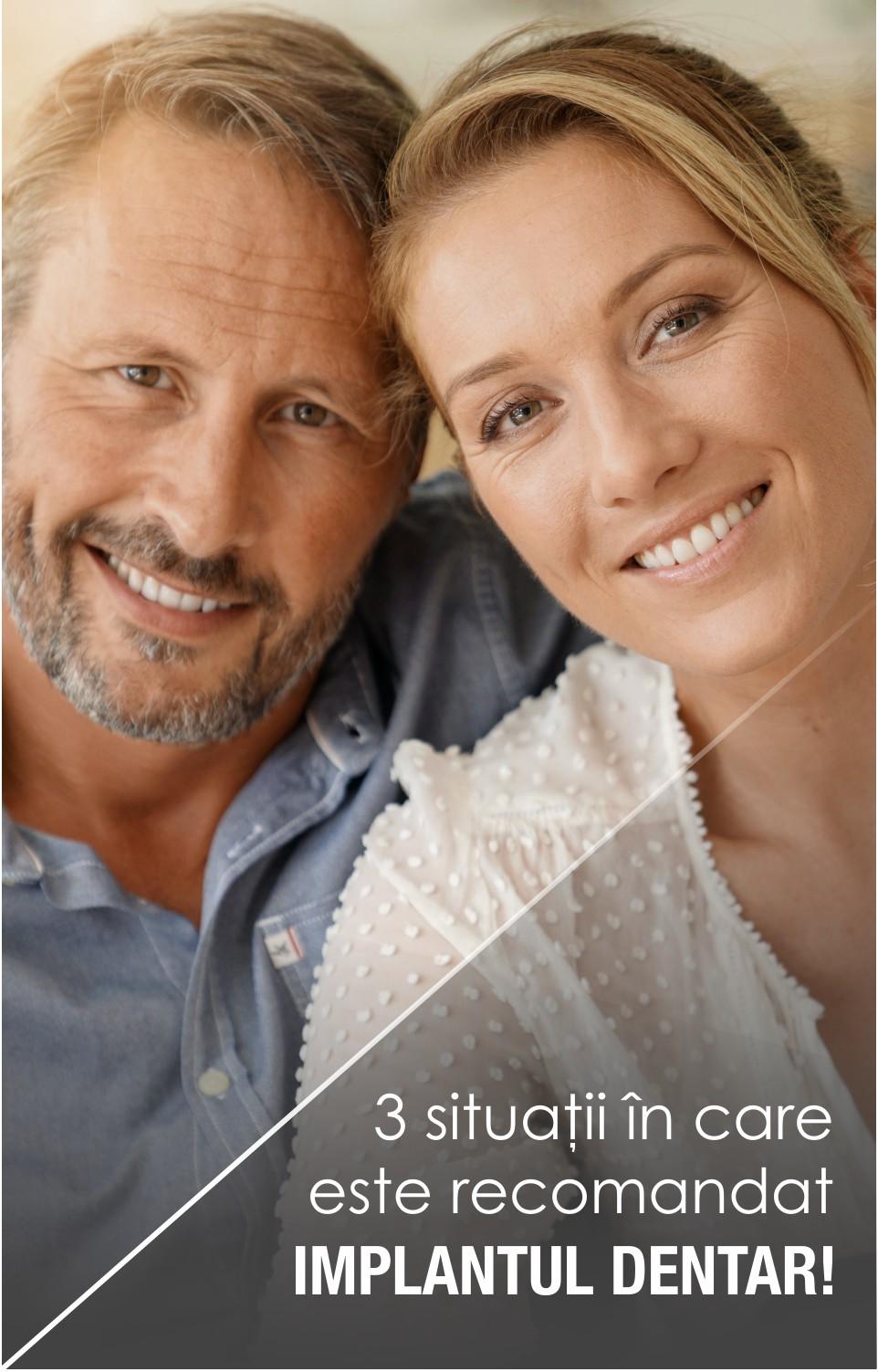 Trei situații în care este recomandat implantul dentar